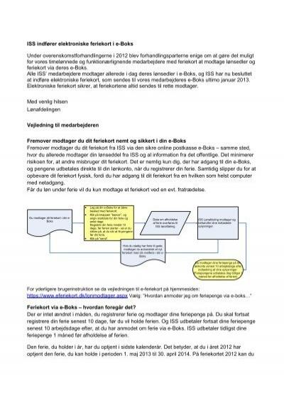 ISS indfører elektroniske feriekort i e-Boks Under ...