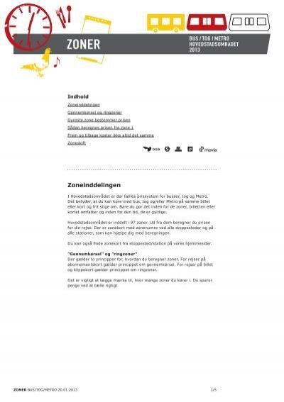 Zonekort københavn S