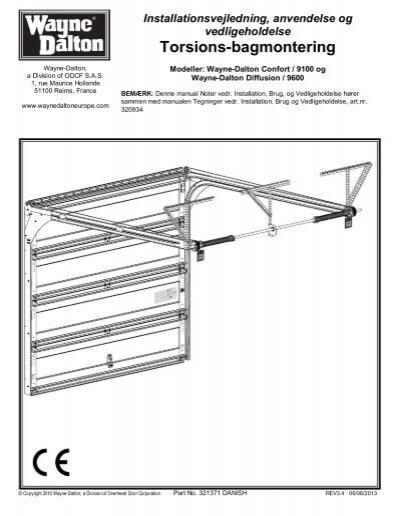 torsions bagmontering wayne dalton. Black Bedroom Furniture Sets. Home Design Ideas