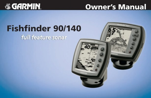 Fishfinder 90/140 Owner's Manual - Garmin