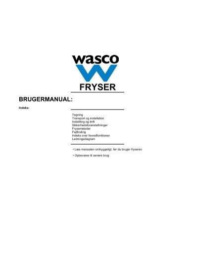 wasco kummefryser fb101h