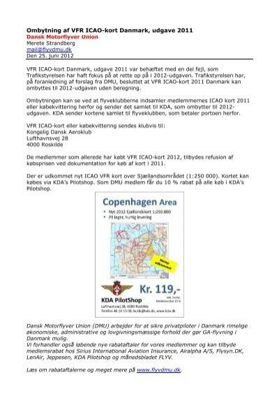 Ombytning Af Vfr Icao Kort Danmark Udgave 2011 Dmu Dansk