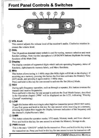yaesu ft 1500m service manual