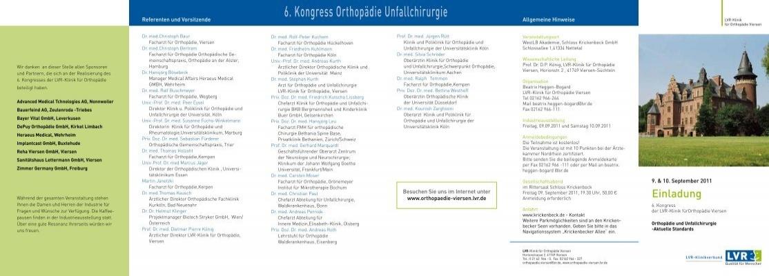 6 Kongress Orthopadie Unfallchirurgie Ismiss