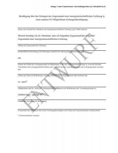gelangensbesttigung dobler und partner - Gelangensbesttigung Muster