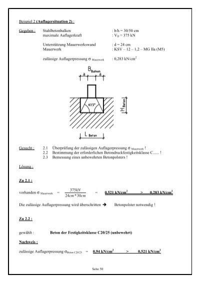 Beispiel 2 auflagersitua for Auflagerberechnung beispiel