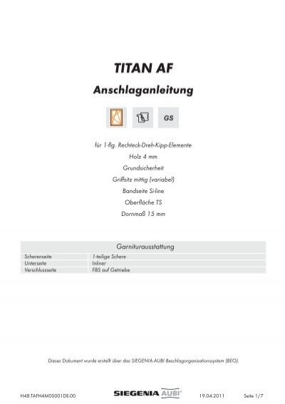 titan af siegenia aubi dokumentationsportal. Black Bedroom Furniture Sets. Home Design Ideas