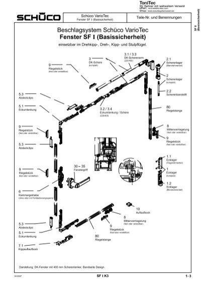 beschlagsystem sch co variotec fenster sf basissicherheit. Black Bedroom Furniture Sets. Home Design Ideas