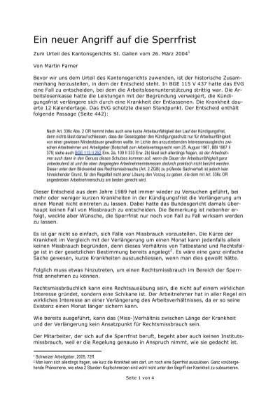 Ein Neuer Angriff Auf Die Sperrfrist Martin Farner Rechtsanwalt