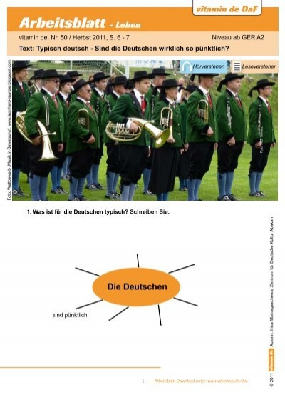 Arbeitsblatt - Leben - Deutsch lernen mit vitamin de