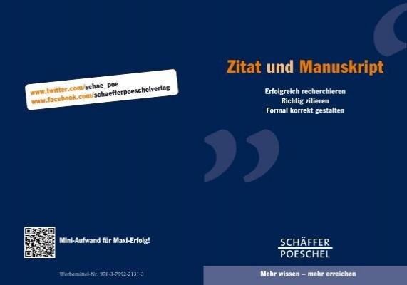 Zitat Und Manuskript Schäffer Poeschel Verlag Gmbh