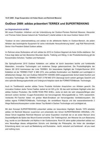 Supertrekking Präsentiert Outdoor 2009Adidas Und Terrex 3KJcTFl1