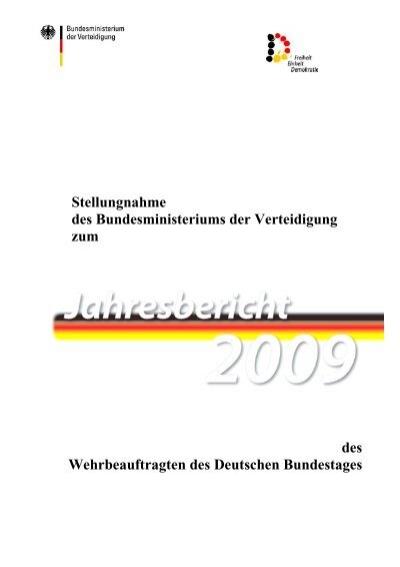Stellungnahme Des Bundesministeriums Der Bundeswehr