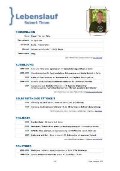 luther lebenslauf 2007 robert timm - Martin Luther Lebenslauf