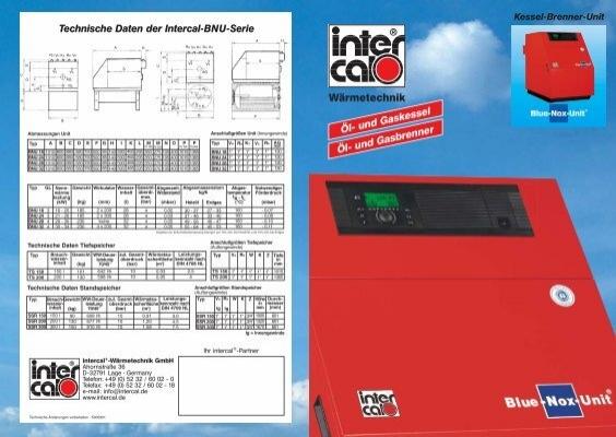 intercal Blue-Nox-Unit ® , das komplette Wärmezentrum für Öl oder ...