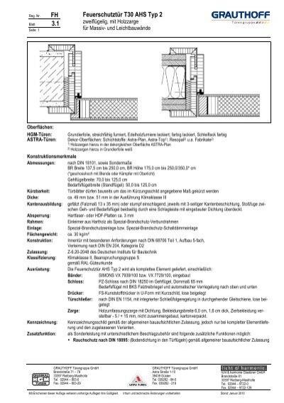 fh 3 1 feuerschutzt r t30 ahs typ 2 grauthoff t rengruppe. Black Bedroom Furniture Sets. Home Design Ideas