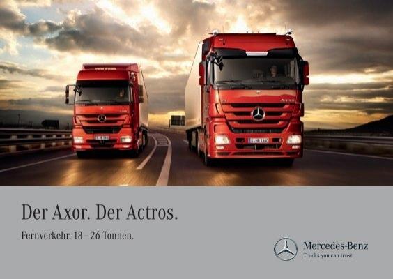 Der axor der actros mercedes benz luxembourg for Mercedes benz luxembourg