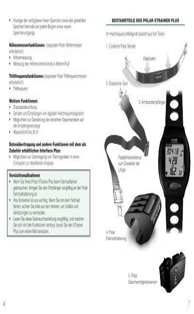 manual polar xtrainer plus