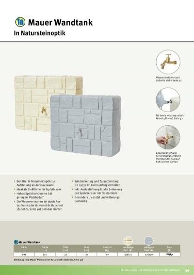 mauer wandtank in naturst. Black Bedroom Furniture Sets. Home Design Ideas