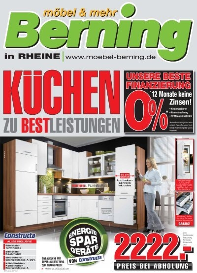 unsere beste finanzierung 0 m bel berning. Black Bedroom Furniture Sets. Home Design Ideas