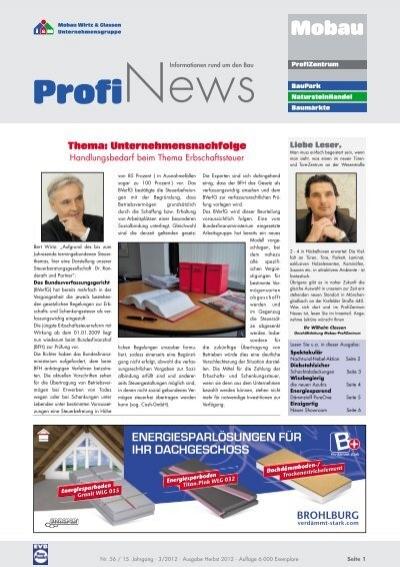 profinews 03 2012 mobau wirtz und classen. Black Bedroom Furniture Sets. Home Design Ideas