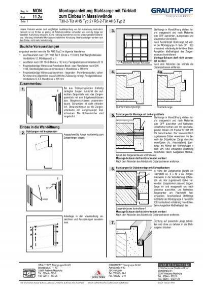 Stahlzarge Oder Holzzarge 11 2a montageanleitung stahlzarge mit türblatt zum grauthoff
