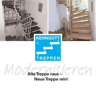 alte treppe raus neue treppe rein kenngott treppen. Black Bedroom Furniture Sets. Home Design Ideas
