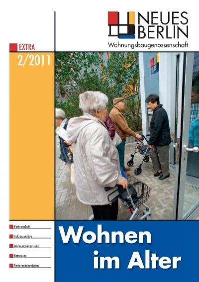 2 2011 wohnen im alter wohnungsbaugenossenschaft neues berlin. Black Bedroom Furniture Sets. Home Design Ideas