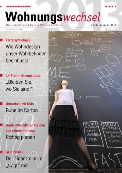 wohnungswechsel magazin sonderausgabe 2013 umzug. Black Bedroom Furniture Sets. Home Design Ideas