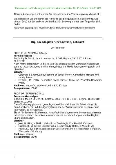 Diplom Mathematik - LMU