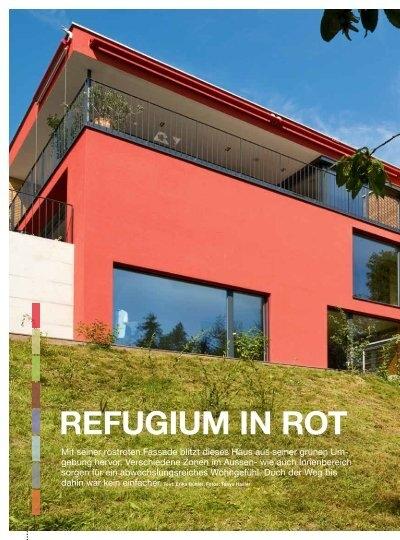 refugium in rot m3 architekten ag. Black Bedroom Furniture Sets. Home Design Ideas