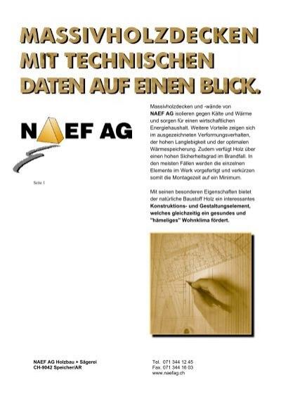 massivholzdecken und w nde von naef ag isolieren gegen. Black Bedroom Furniture Sets. Home Design Ideas
