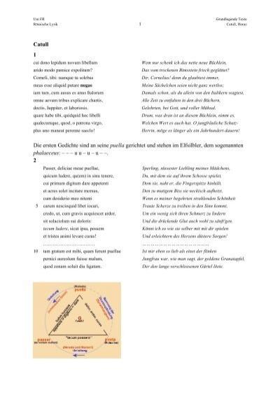 Catull 1 Die Ersten Gedichte Sind An Seine Puella Gerichtet