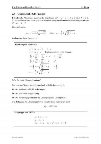 Gleichungen und komplexe