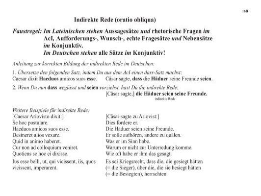 indirekte rede oratio ob - Indirekte Rede Beispiele