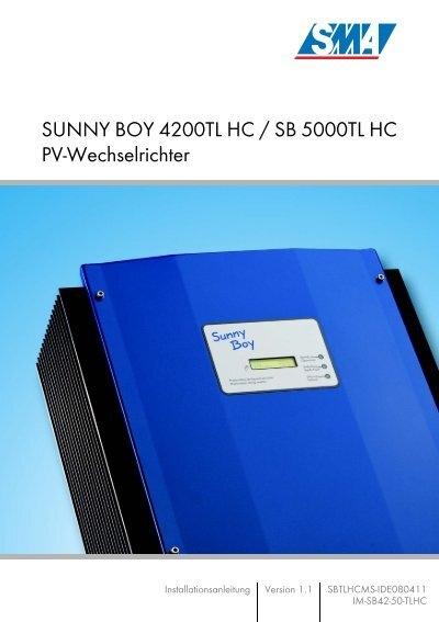 sunny boy sb 4200tl hc multi string sb 5000tl hc multi. Black Bedroom Furniture Sets. Home Design Ideas