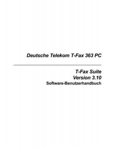 deutsche telekom t fax 363 pc t fax suite version. Black Bedroom Furniture Sets. Home Design Ideas