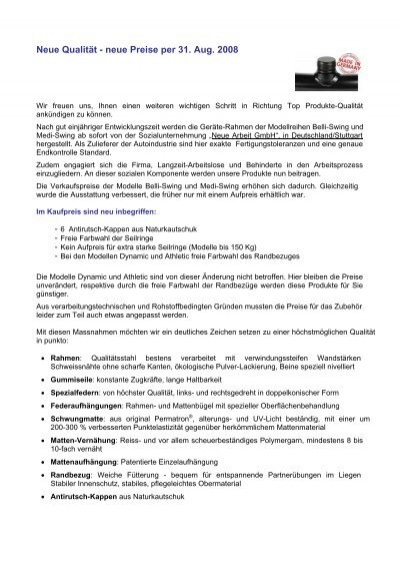 Preisliste CHF 2008 - Chi-Zentrum