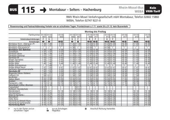 bus 115 montabaur selters hachenburg. Black Bedroom Furniture Sets. Home Design Ideas