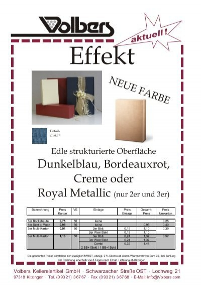 aktuell - Herzlich Willkommen Volbers Kellereiartikel GmbH