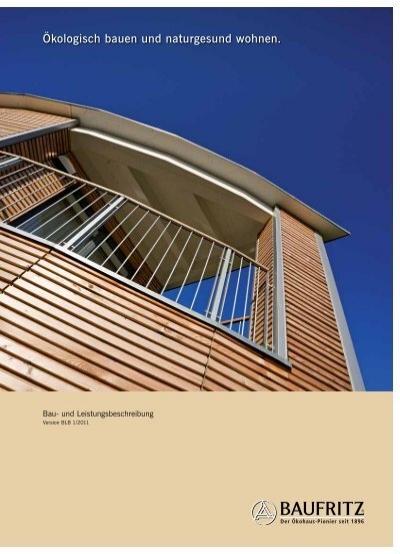 bau und leistungsbeschreibung 1 2011 pdf baufritz. Black Bedroom Furniture Sets. Home Design Ideas