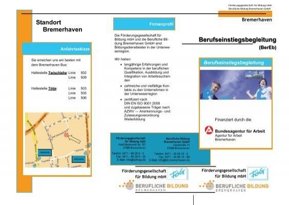 Standort Bremerhaven Berufseinstiegsbegleitung Berufliche
