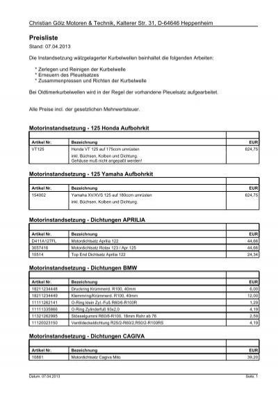 Zylinderkopfdichtung Dichtung O-Ring Zylinderkopf Zylinder Ktm Exc 300
