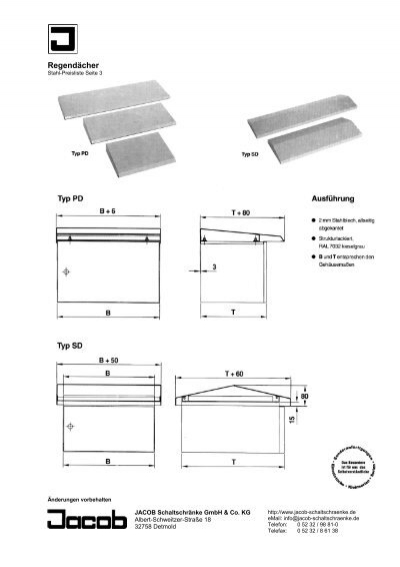 Regendächer Stahl-Preisl