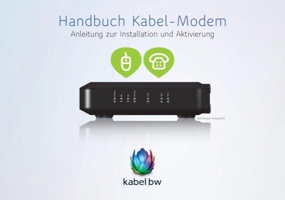 handbuch kabel modem kabel bw. Black Bedroom Furniture Sets. Home Design Ideas