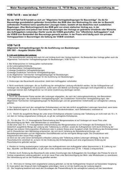 Vob teil b maier raumgestaltung for Raumgestaltung deutsch