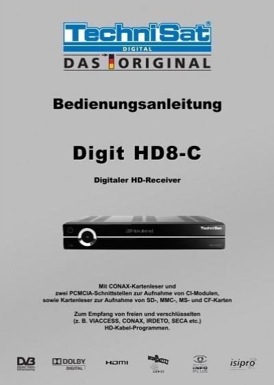 technisat digit hd8 c martens deutsche telekabel. Black Bedroom Furniture Sets. Home Design Ideas