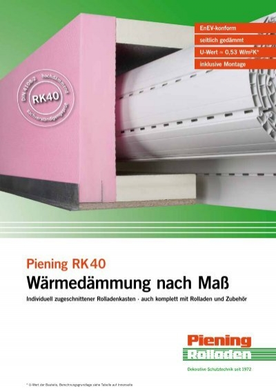 w rmed mmung nach ma rolladen piening gmbh. Black Bedroom Furniture Sets. Home Design Ideas