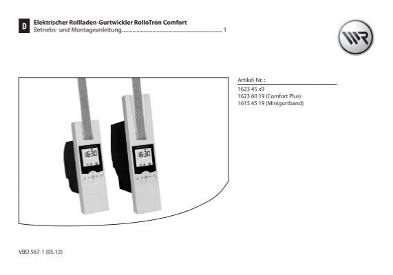 elektrischer rollladen gurtwickler rollotron comfort rademacher. Black Bedroom Furniture Sets. Home Design Ideas