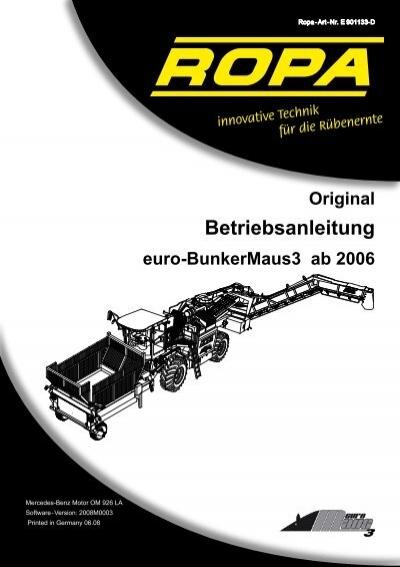 Bedienungsanleitung e-BM3 Deutsch 11-05-2009 ... - ROPA Fahrzeug